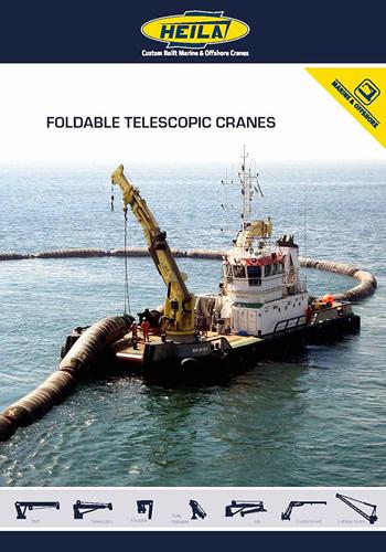 fully foldable marine cranes